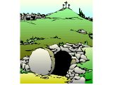 The empty tomb and three empty crosses