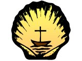Ecumenical symbol of a boat on scallop shell