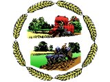 Combine harvester and tractor with corn border