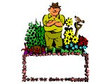 Farmer or gardener with a border