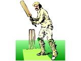 A cricketer ready to bat