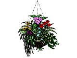 A hanging basket