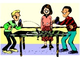 Youths playing table-tennis
