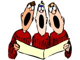 Three choir singers
