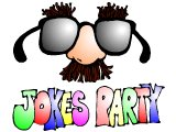 `Jokes Party` with false nose and glasses