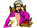 Older woman talking on the phone, looking at a piece of paper