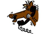 A horse on the phone - news from the horse`s mouth
