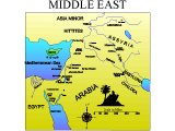 Map of the Middle East with OT cities and areas marked