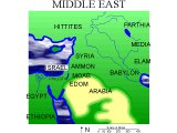 Map of the Middle East with OT countries marked