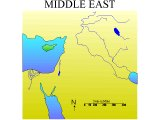 Map of the Middle East with almost nothing marked