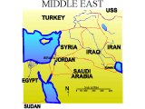 Map of the Middle East with modern countries marked