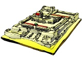 Topographical drawing of the Temple in NT times