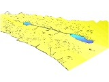 Topographical map of Palestine