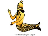 Babylonian illustration of Dagon, the fish-man god also worshipped by the Philistines