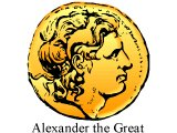 Head of Alexander the Great on a coin