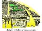 Topographical map of Babylon, looking from the Ishtar Gate