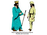 Typical dress of a poor man and a rich man of Persia