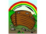 The ark with a rainbow