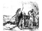 The captives of Judah being sent home by the counsel of Oded the prophet