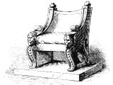 Roman chair of state - cf Mt.27.19
