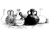 Assyrian bottles of glass