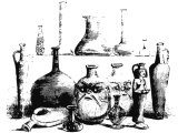 Egyptian bottles of glass
