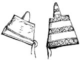 Assyrian horn-shaped caps, worn only by kings. Horns are often seen as symbols of power (Deut.33.17, 1S.2.1, Ps.75.5,10, Jer.48.25)