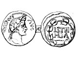 Coin of Corinth, in celebration of the Isthmian games. - cf references to sports in 1Cor.9.24-27