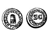 Coin of Claudius, struck in 41/42 AD after a famine. Left shows a grain measure.