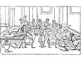 Reclining at a Roman Triclinium for meals