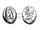 Daric, gold, introduced by Darius. Right: Darius, half-kneeling. See Ezra 2.69, 7.27, Neh.7.70-72, 1Chron.29.7 (which records the value at the time Chronicles was compiled)
