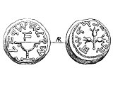 Shekel, silver, of &`;Simon&`;. The Romans allowed only great cities (not including Jerusalem) to issue silver coins. These were struck in defiance to the Romans.