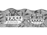 Phoenician ships, on Assyrian bas relief