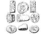 Assyrian and Babylonian seals cf Dan.6.17