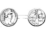 Bust of Titus on a coin of Herod Agrippa II