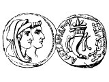 Coin of Alexander Balas and Cleopatra 144 BC