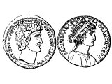 Coin of Antony and Cleopatra 30 BC