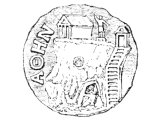 Coin of Athens showing the Acropolis