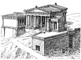 Propylaea in Athens, from Southwest