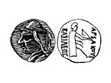 Coin of Arsaces in Parthia