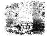 Corner of an ancient wall in Jerusalem, thought to be part of the Temple