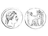 Coin of Cappadocia with Ariarthes VII