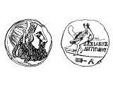 Coin of Phrygia with Antigonus Cyclops 333-301 BC
