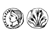 Coins of Philadelphia with founder Philadelphus with Attalus II 159-138 BC