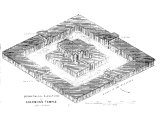 Isometrical elevation of Solomon`s temple (after Calmet)