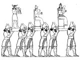 Carrying idols. From the Nineveh marbles