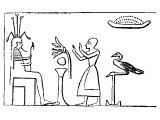 Egyptian offering the Lotus to his god