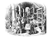 A very early print shop in Holland
