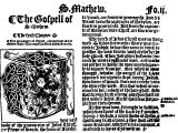Part of the first page of `St Matthew` from the `Great Bible` printed in 1540