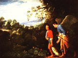 Tobias and the Angel by Elsheimer (1578-1610), National Gallery, London